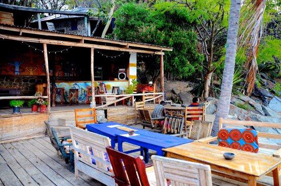 Nkhata Bay, Malaui: The bar/restaurant area