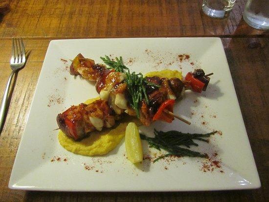 Freckenham, UK: My absolutely divine fish kebabs!!