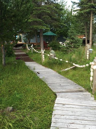 Kasilof, AK: Walking Back from Ocean Bluff to Main B & B complex