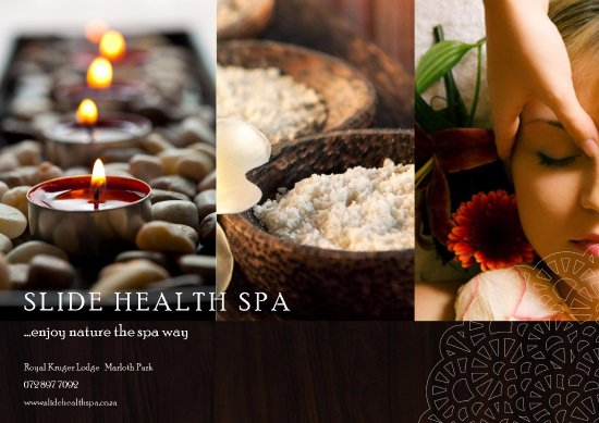 Marloth Park, Sudáfrica: Enjoy all natural products during your treatments at Slide Health Spa