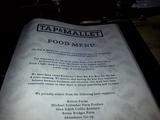 Tap & Mallet : Tap and Mallet menu