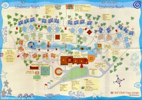 Hotel Sol Cayo Largo map of the resort Picture of Sol Cayo Largo