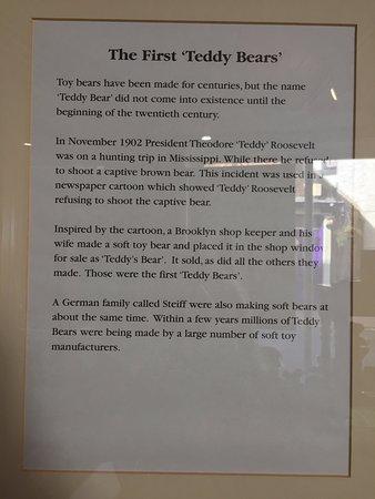 Coalbrookdale, UK: The first teddy bears