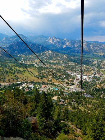 Estes Park Aerial Tramway: Headed up on the tram