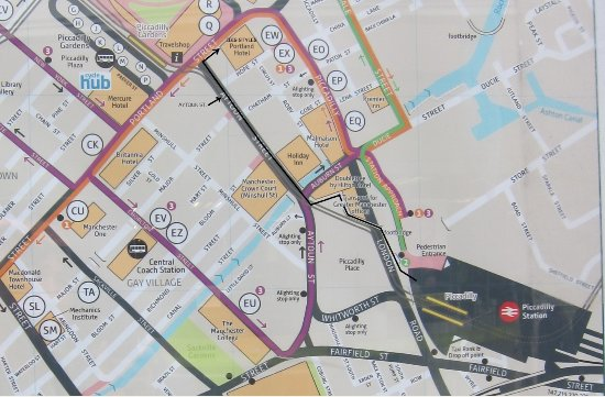 Map to hotel from Piccadilly Station Picture of Ibis Styles