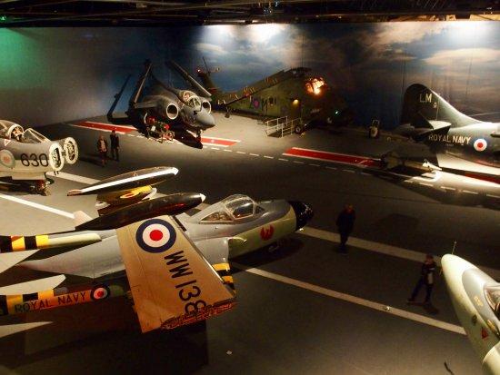 Ilchester, UK: Flight deck of Ark Royal