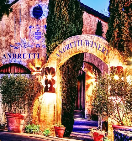Napa Tour Shuttle : Andretti... quaint little vinyard with as much character as Mario himself!