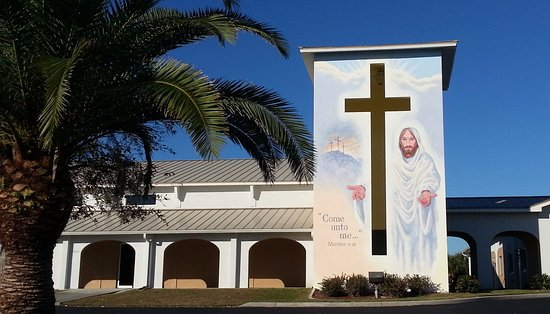 "Punta Gorda, Флорида: ""Come Unto Me . . ."" this mural is amazing!"