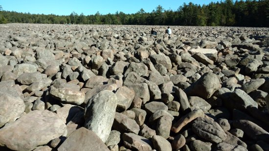 Горы Поконо, Пенсильвания: Stones for as far as the eye can see.