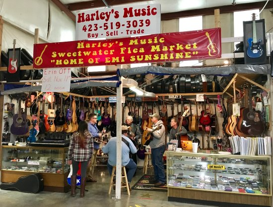 Sweetwater Flea Market: Bluegrass time on Sunday afternoon.