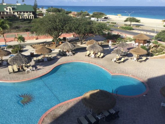 Paradise Beach Villas: This is from our 4th balcony, loved Aruba.