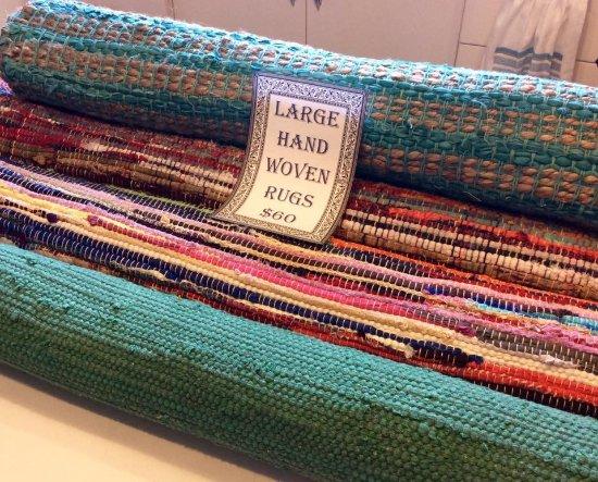 Rustic Charm: Hand woven rag rugs