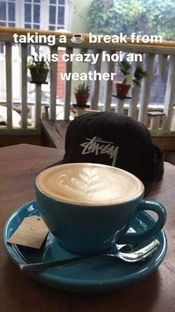 Taking shelter at the Espresso Station