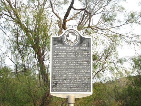 Battle Plaque, Palo Dura Canyon State Park Vista View, Canyon, Texas