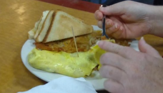 Wilkesboro, Carolina del Norte: Omelet was OK.