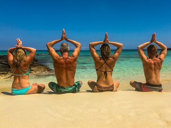 Boat to Beach Yoga Excursions
