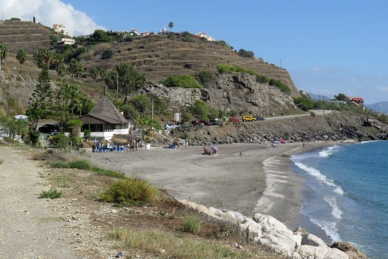 Torrox, Spain: Secluded beach by the N340