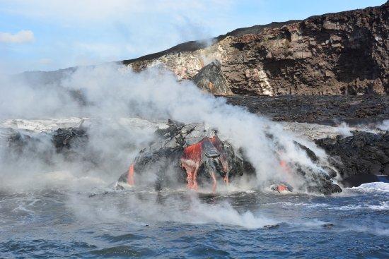 Pahoa, Hawaï: Some of the lava flows