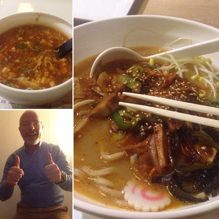 #1 Hot and Sour Soup #2 Spicy Ramen (House Style)