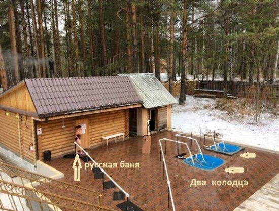 Ketovsky District, Nga: Здесь 2 колодца с ледяной водой. Напротив русская баня.