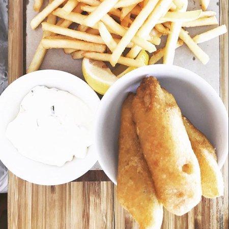 Try fish & chips (with barramundi)