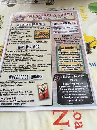 Seagrams Bar and Grill: Menu