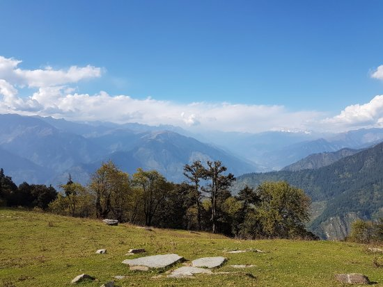 Fantastic view of the Himalayas - 1 hour trek from Poonam Mountain Lodge