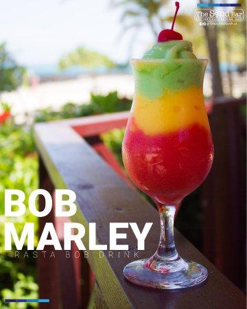 The Sand Bar at Doctor's Cave Bathing Club: The Bob Marley Drink (Rasta Bob)