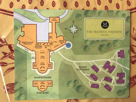 Yosemite Hotels Map on