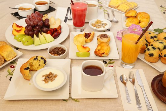 Villa Las Rosas, Αργεντινή: Desayuno orgánico. Con propuestas lubres de gluten, sin azúcar y veganas.