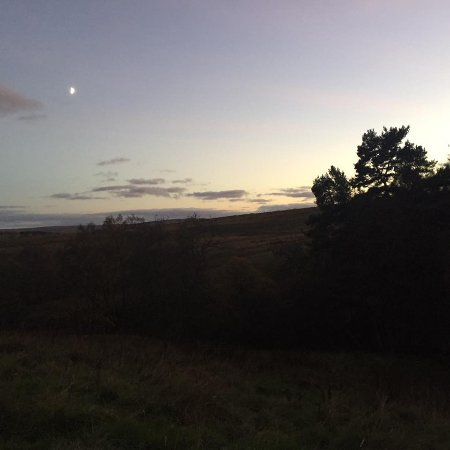 Northumberland National Park, UK: View across the site at twilight