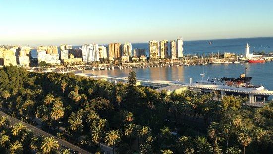 AC Hotel Malaga Palacio : Aussicht von Terrasse