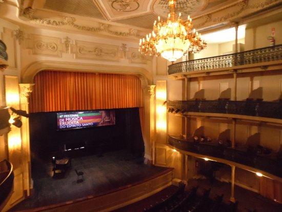 Theatro Carlos Gomes : Parte interna do teatro, com vista do palco.