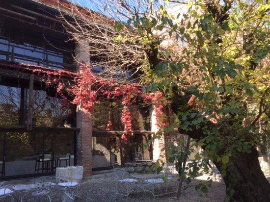 Hotel Castello Di Pomerio: Cour intérieure aux 2 puits