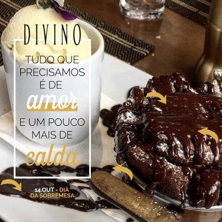 Divino: Delicioso Suflê de chocolate!!!