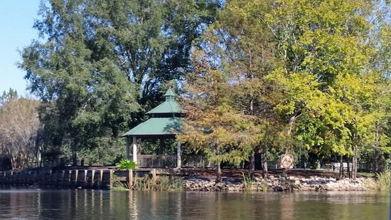 Conway, SC: Gazebo at the end of River Walk at water entrance to marina