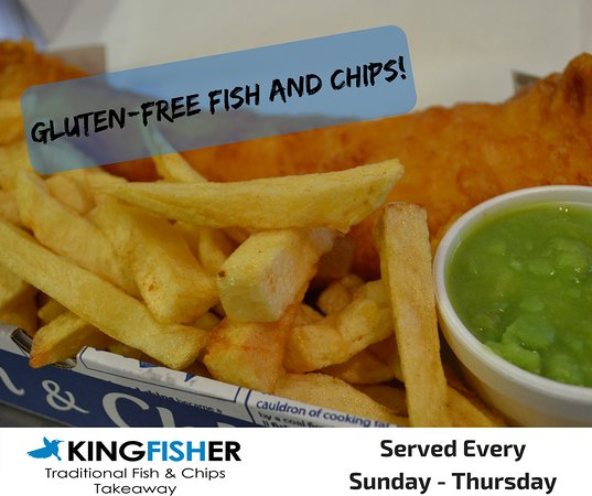 Gluten free fish and chips served every sunday thursday for Gluten free fish and chips