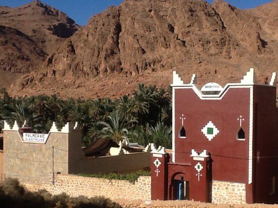 Hotel Palmeraie Guesthouse: Palmeraie Guesthouse From the road.Toudra Gorge Rd N703.Tinerhir.Tinghir.Morocco