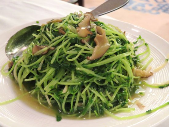 Bamboo & Pea Shoots - Peking Garden Kowloon (31/Oct/17). - Picture ...