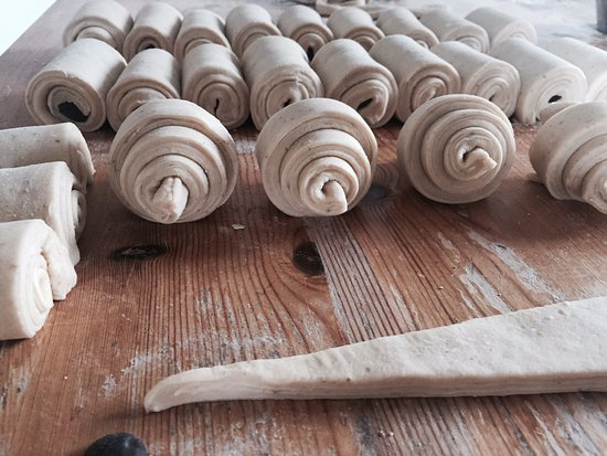 Hallefors, Swedia: Croissant och pain au chocolat