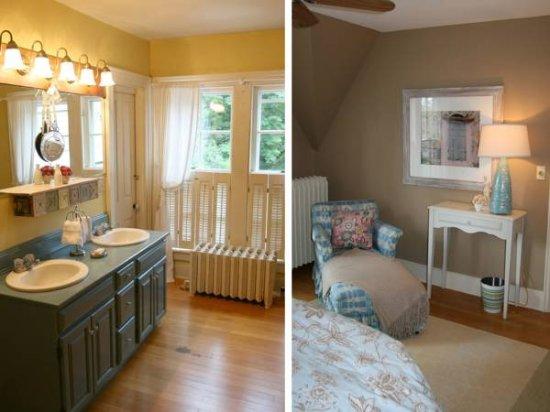 Bristol, Вермонт: Bridal Veil Bath & Sitting Room