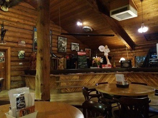 Spences Bridge, Canadá: Innenraum im Log Cabin
