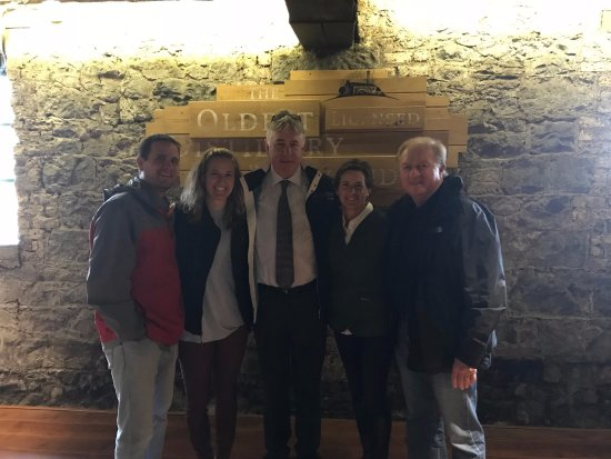 Drogheda, Ireland: Brian with us at the Oldest Distillery in Ireland.