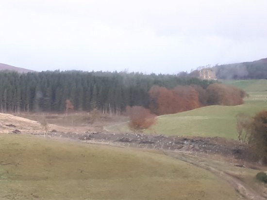 A view of Balintore Castle