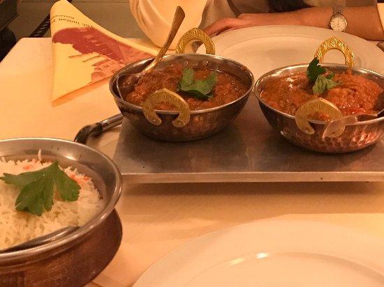 Vindaloo fish and masala duck