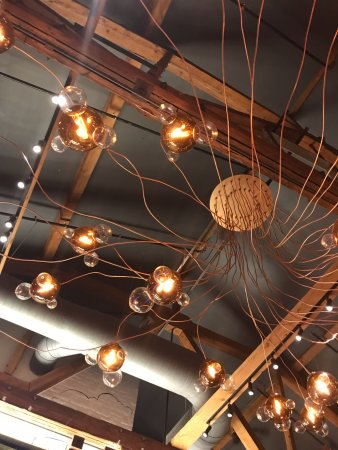 cool light fixtures - picture of amsterdam brewhouse - on the lake