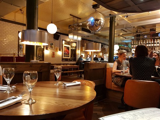 Restaurant interior picture of randall and aubin