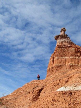 Canyon, TX: Climbing high for a good view.