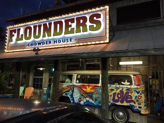 Flounder's Chowder House: Flounder's front entrance