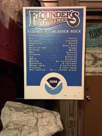 Flounder's Chowder House: Founder's weather rock